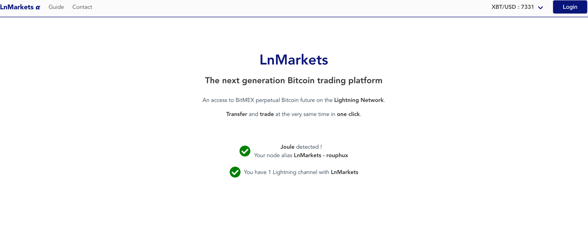 LnMarkets now live on Bitcoin Testnet